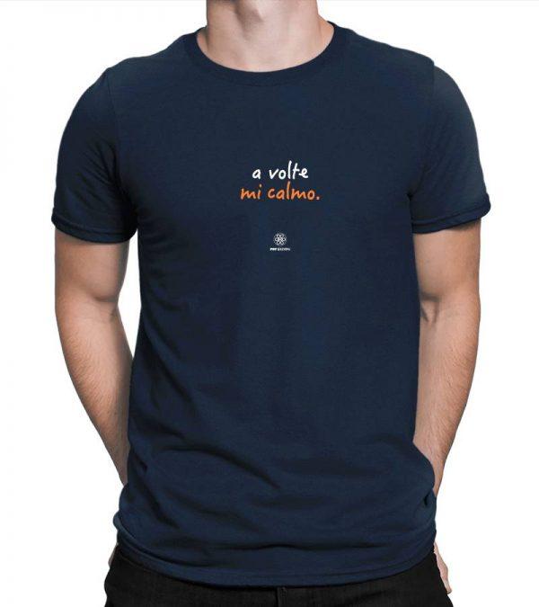 T-shirt A volte mi calmo - Navy