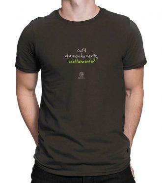 T-shirt uomo - Cosa non ho capito - brown