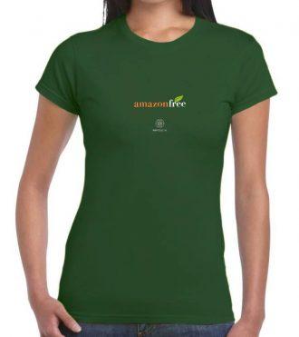 T-shirt donna amazon free - verde bottiglia