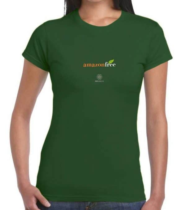 T-shirt donna amazon free - verde bottiglia